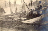 Ships docked at Job Brothers & Co. north side premises in St. John's, N.L.
