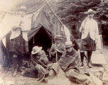 ''Camping out Placentia, 1902.''