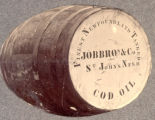 Job Brothers & Co. cod oil barrel.