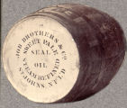 Job Brothers and Company barrel for shipping seal oil.