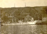 Large vessel docked at Job Brothers & Co. south side premises, St. John's harbour, N.L.