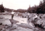 ''Fishing at S.E. River, Placentia, July, 1902.''