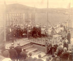 ''Placentia Court House, laying of Corner Stone by Sir C. Boyle.''