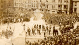 Field Marshall Haig's Visit: Ceremony at the War Memorial before the unveiling of the monument,...