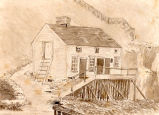 ''A picture of the Old House at South Side, built and occupied by Great Grandfather Job.''