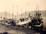 Ships docked at Job Brothers & Co. north side premises, St. John's Harbour