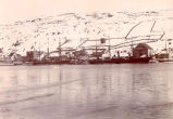 Vessels docked at Job Brothers & Co. south side premises, St. John's Harbour, during the winter