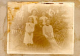 ''The Forward Family: Top row - Ernestine & Hilda. Bottom row - Kathleen, Father & Mother''