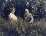 James and Kathleen (Forward) Rorke, at the entrance to their home, ''Dunrovin'', Carbonear.