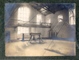 Gymnasium, showing gymnastics equipment, The Leys School, Cambridge, England