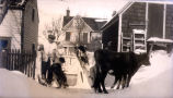 Ernest Edward Forward with his dog and cows