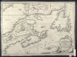A new chart of the coast of New England, Nova Scotia, New France or Canada, with the islands of Newfoundld.,