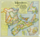 The Maritime Provinces : new railway, post office, municipal division and county map of Nova Scotia,