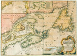 A new chart of the coast of New England, Nova Scotia, New France or Canada, with the islands of...