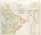 Aboriginal map of North America denoting the boundaries and locations of various Indian tribes