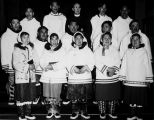 F.W. Peacock with Inuit choir
