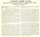A deserted Eskimo village : being extracts from the annual report of the Okak Mission Station,...