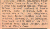 "23.05.002: ""William Wilson Brown"" obituary"