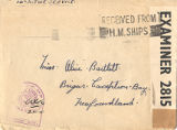 18.04.007: Envelope to Miss. Alice Bartlett, Brigus, Conception Bay, Newfoundland, received from...