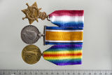 03.01.003: 1914-15 Star, X. 1514, J. J. BARNABLE, SMN. , R.N.R.; British War Medal, 1514X J. J....